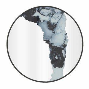 Marble Oglinda decoratiava, Lemn, Negru