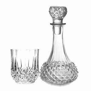 Max Set Decantor cu 6 pahare, Sticla, Transparent