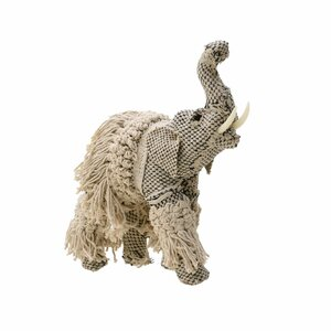Morrocan Decoratiune elefant mediu, Textil, Bej