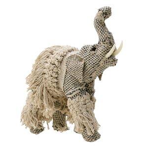 Morrocan Decoratiune elefant, Textil, Bej