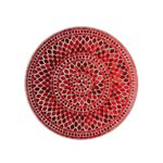 Mosaic Platou servire, Sticla, Rosu