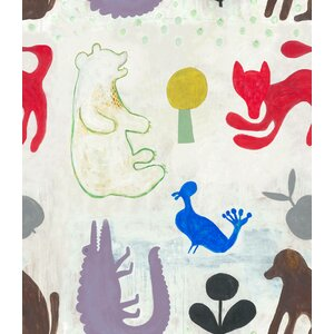 Mr Boyd's Animals, set 3 role tapet, Netesut, Multicolor