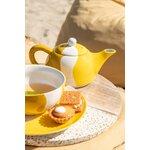 Tea Set ceainic cu ceasca, Portelan, Galben