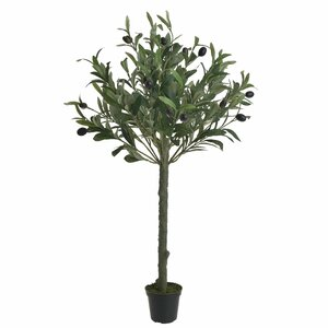 Olive Maslin artificial in ghiveci, Plastic, Verde