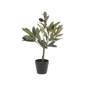 Olives Maslin artificial ghiveci mic, Plastic, Verde