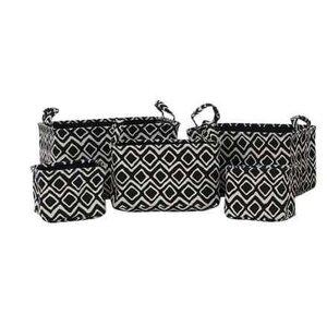Orla Set 5 cosuri depozitare, Textil, Negru