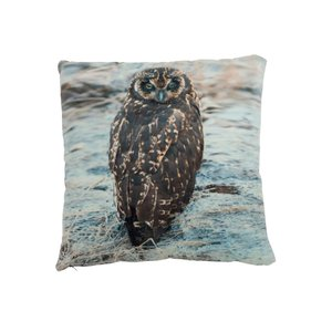 Owl Perna decorativa, Textil, Maro