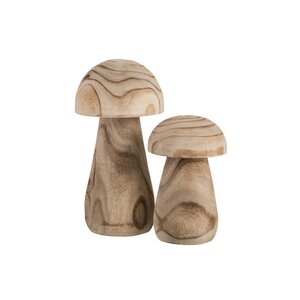 Paul Decoratiune ciuperca mica, Lemn, Bej