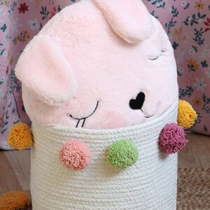 Pimprenelle Perna decorativa rotunda, Textil, Roz