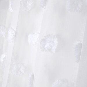 Pompinou Perdea, Textil, Alb
