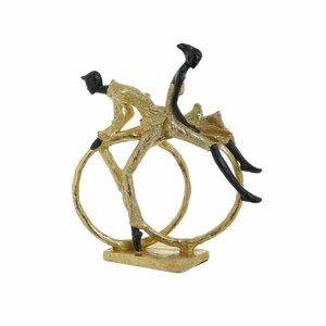 Rings Statueta cuplu, Polirasina, Auriu