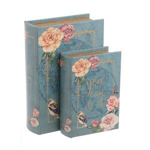 Romance Set 2 cutii decorative, Lemn, Multicolor