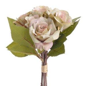 Rose Buchet flori artificiale, Plastic, Roz