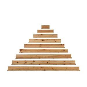 Scale Raft perete piramida, Lemn, Bej