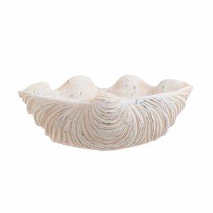 Seashell Bol decorativ, Ciment, Bej