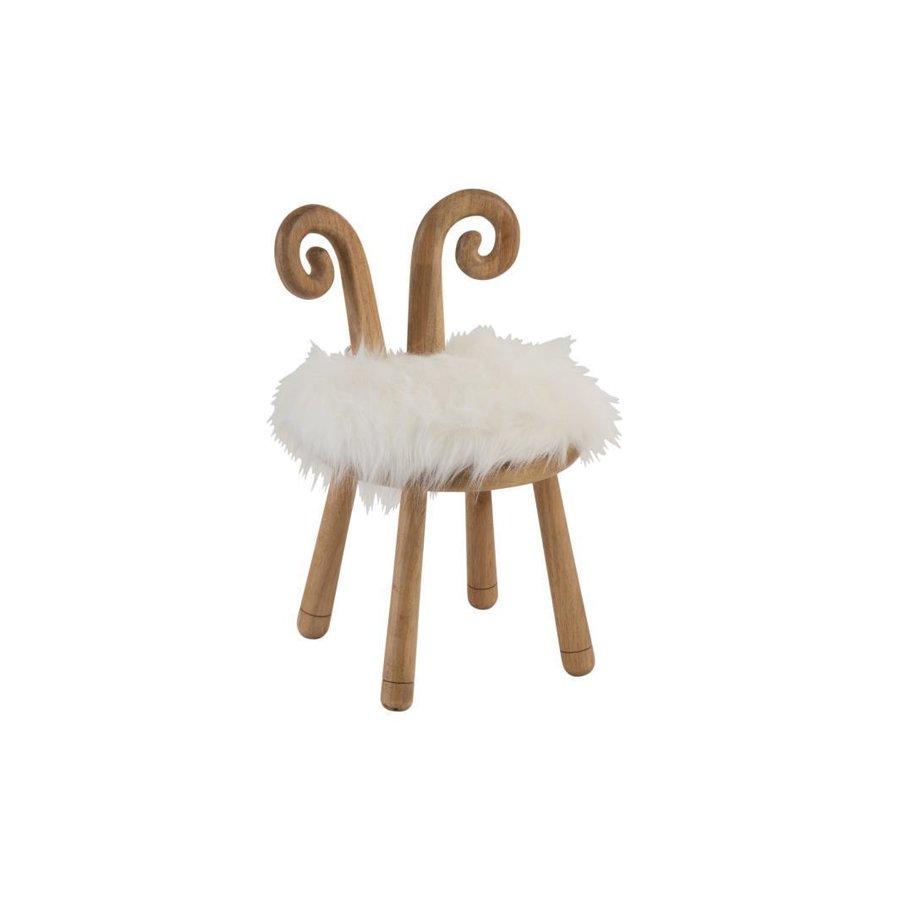 Sheep Scaunel Lemn Alb