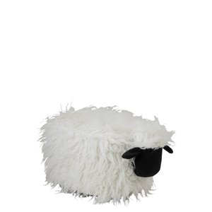 Sheep Taburet, Textil, Alb
