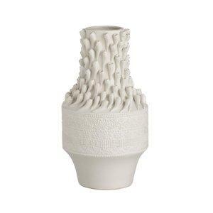 Shells Vaza, Ceramica, Alb
