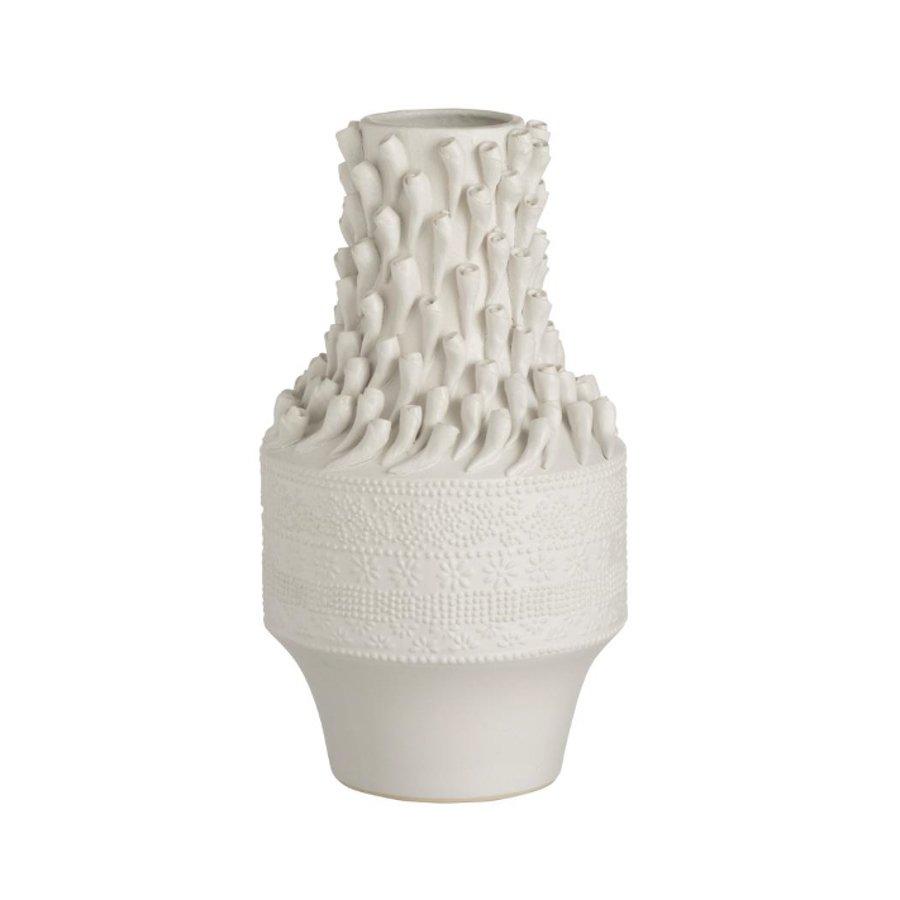 Shells Vaza Ceramica Alb - 19527