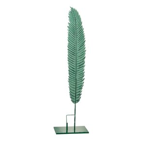 Stalk Decoratiune pana medie, Metal, Verde