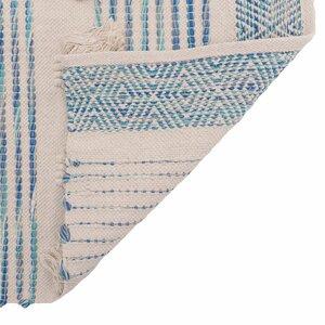 Stripe Covor, Bumbac, Albastru