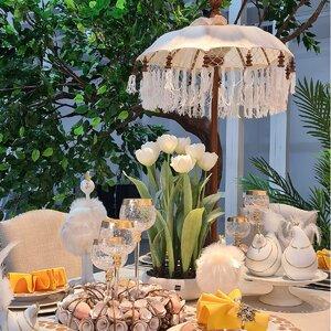 Tass Decoratiune Umbrela soare, Bumbac, Alb