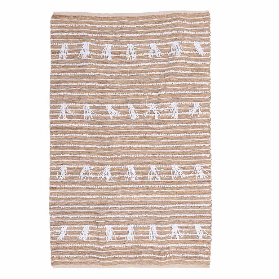 Tassel Covor Textil Bej