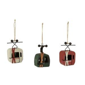 Telecabina Decoratiune suspendabila, Lemn, Alb