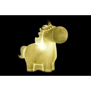 Unicorn Lampa de veghe, Portelan, Alb