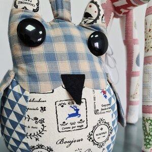 Veioza Bufnita, Textil, Albastru