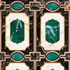 Waldorf Emerald Set 3 role tapet, Netesut, Multicolor
