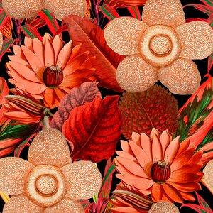Water Lilies  Set 3 role tapet, Netesut, Multicolor