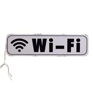Wifi Decoratiune perete, Metal, Alb