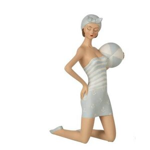 Woman Bath Suit Decoratiune, Polirasina, Albastru
