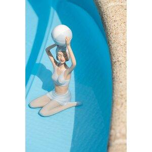 Woman Bathing Suit Decoratiune, Polirasina, Albastru