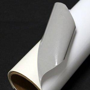 Folie Ritrama 80 microni, albă monomerică, lucioasă, adeziv permanent, spate gri