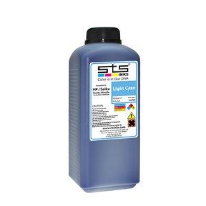 Cerneală STS low solvent, bidon 1L, compatibil HP 9000 | HP10000 | Seiko 64 Cyan