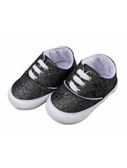 Adidasi cu sclipici model negru
