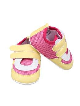 Adidași fetițe galben-ciclam