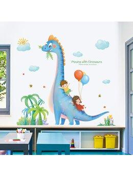 Autocolant de perete Playing with Dinosaurs 106x110cm