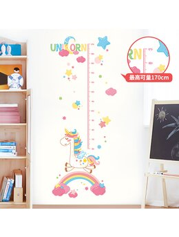 Autocolant de perete unicorn și măsurătoare 70x170cm