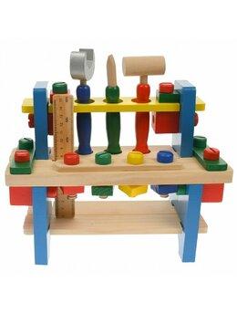 Banc de scule din lemn educativ pentru copii