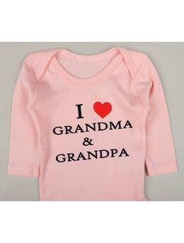Body ml i love grandma & grandpa coral