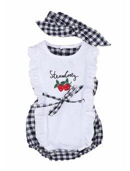 Body+bentita Strawberry negru