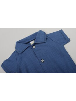 Cămașă stil body albastru