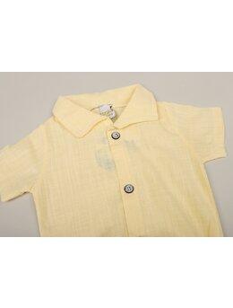 Cămașă stil body galben Ken
