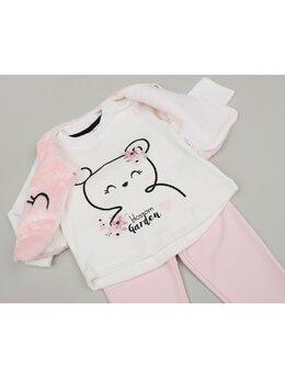 Compleu Blossom 3 piese blăniță roz