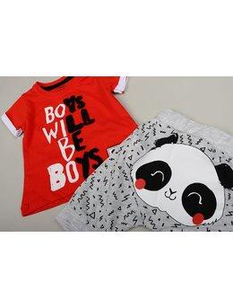 Compleu boys will be boys rosu