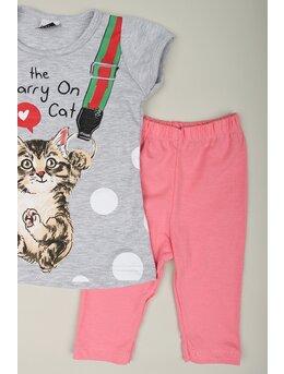 Compleu girl cat model gri
