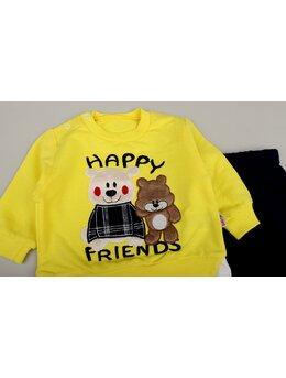 Compleu Happy bears model galben
